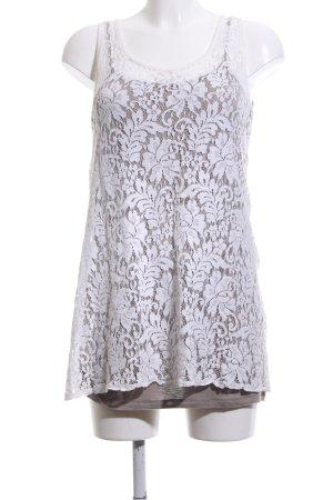 Vestino Spitzenkleid braun-weiß Blumenmuster Elegant