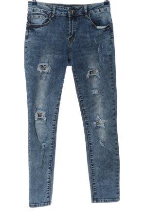 Vestino Jeans elasticizzati blu stile casual