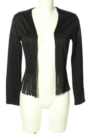 Vestino Giacca in maglia nero stile casual