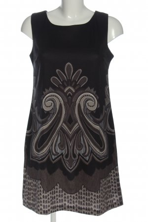 Vestino Knitted Dress black abstract pattern casual look