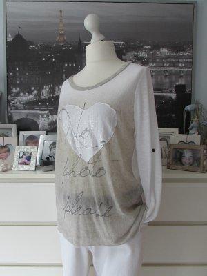 Vestino Maglione girocollo bianco-beige