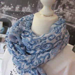 Vestino * %Summer Sale% Süßer softer Sommer Schal * hellblau-weiß * NEU