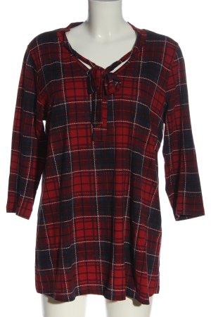 Vestino Blusa a tunica rosso-nero stampa integrale stile casual