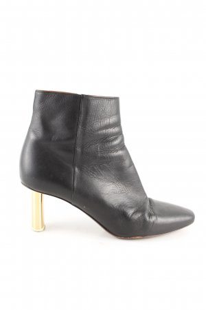 Vetements Reißverschluss-Stiefeletten schwarz-goldfarben Business-Look