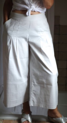 Vetono Culottes white-light grey cotton
