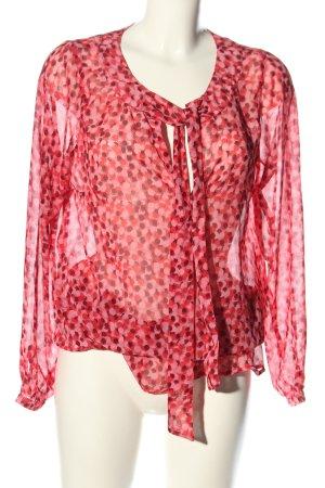 Vetono Langarm-Bluse abstraktes Muster Elegant