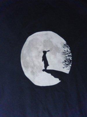 Veträumtes Shirt Hase Mond 36 xs-s Nini Hasi Häschen Romantisch Mond Hasi Top mit Mond Spreadshirt