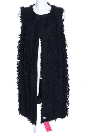 Fake Fur Vest black casual look