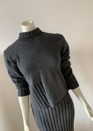 Via Appia Twin set in maglia grigio scuro