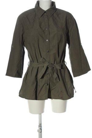 Via appia due Marynarka koszulowa khaki W stylu casual