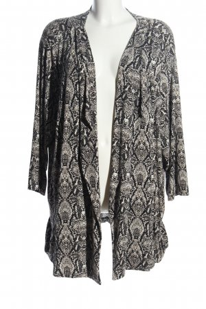 Via appia due Cardigan black-white animal pattern casual look