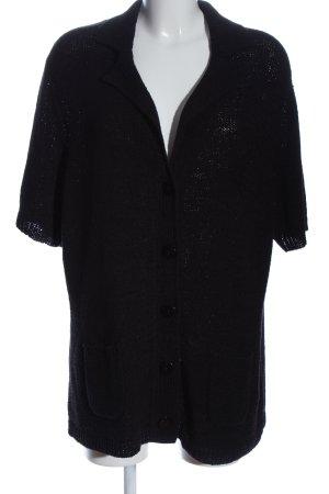 Via appia due Cardigan black weave pattern casual look
