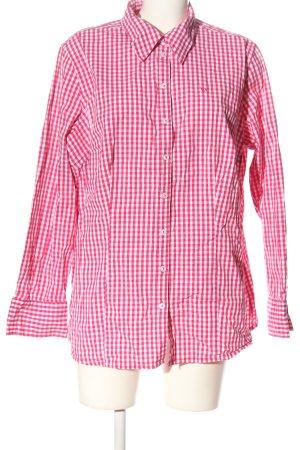 Via appia due Camicia da boscaiolo rosa-bianco stampa integrale stile casual