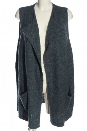 Via appia due Long Knitted Vest blue casual look