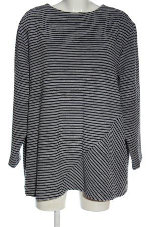 Via appia due Maglione lavorato a maglia grigio chiaro-nero motivo a righe