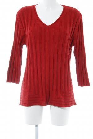 Via appia due Strickpullover rot Streifenmuster Casual-Look