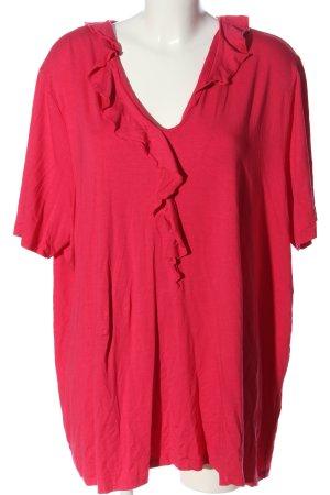 Via appia due Gebreid shirt roze casual uitstraling