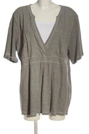 Via appia due Camicia maglia grigio chiaro puntinato stile casual