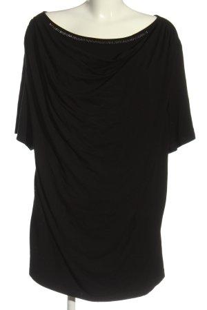 Via appia due U-Boot-Shirt schwarz Casual-Look