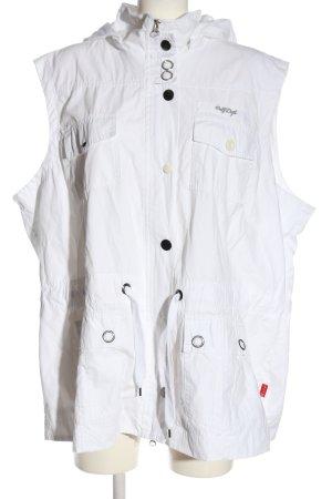 Via Appia Capuchon vest wit casual uitstraling