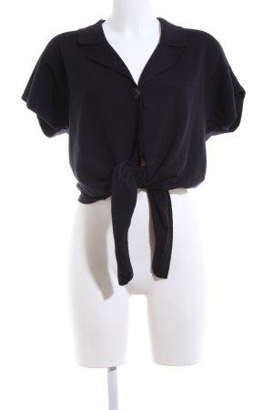 Via Appia Cardigan a maniche corte nero stile casual