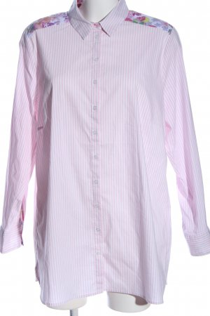 Via Appia Langarmhemd pink-weiß abstraktes Muster Casual-Look