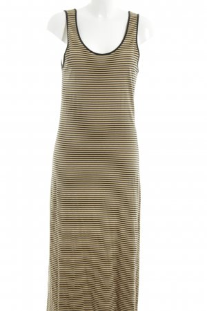 Via Appia Maxikleid blassgelb-schwarz Streifenmuster Casual-Look