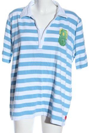 Via Appia Polo-Shirt Schriftzug gestickt Casual-Look