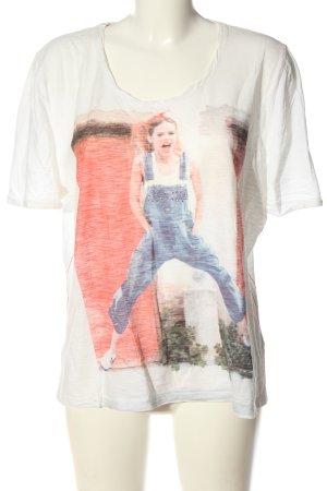 Via Appia Print-Shirt meliert Casual-Look