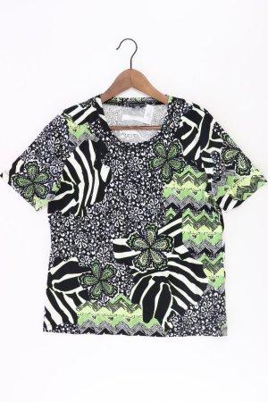 Via Appia Printshirt Größe 44 Kurzarm schwarz