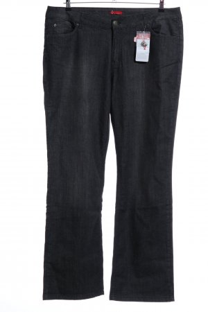 Via Appia Straight-Leg Jeans hellgrau meliert Business-Look
