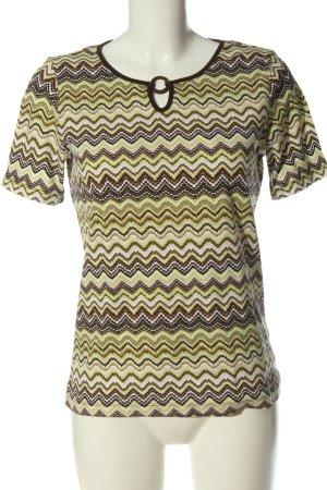 Via Appia U-Boot-Shirt Allover-Druck Casual-Look