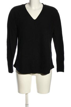 Via Appia V-Ausschnitt-Pullover schwarz Casual-Look
