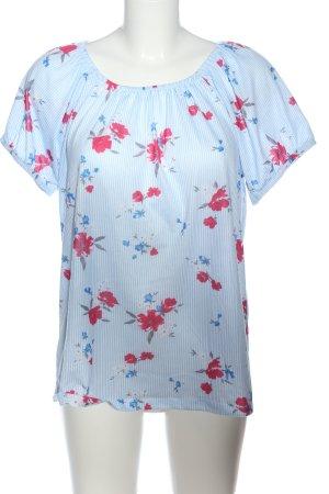via cortesa Boatneck Shirt allover print casual look