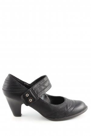 Via della Rosa Mary Jane Pumps schwarz Casual-Look