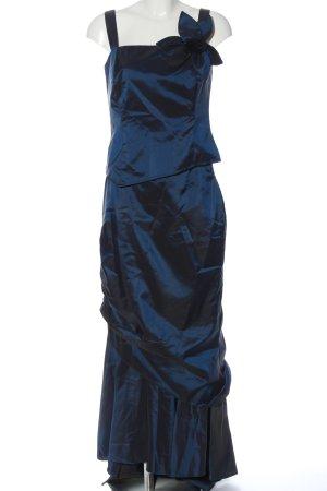 Via Di Ronnetta Ensemble tissé bleu-noir gradient de couleur élégant