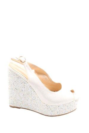Via Giulia Platform Sandals natural white-silver-colored casual look