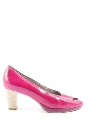 Via Milano Peeptoe Pumps pink-lila extravaganter Stil
