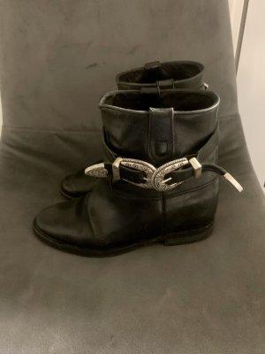 Via Roma Ankle Boots Wedge Keil versteckter Keilabsatz echt Leder