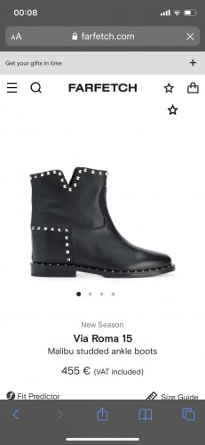 Via Roma 15 Wedge Booties black-silver-colored leather