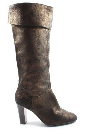 Via uno Absatz Stiefel bronzefarben Casual-Look