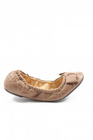 Via uno Foldable Ballet Flats brown casual look