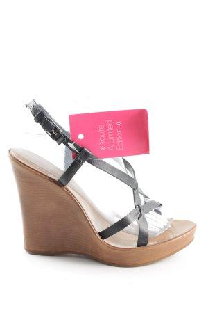 Via uno High Heel Sandaletten braun-schwarz Casual-Look
