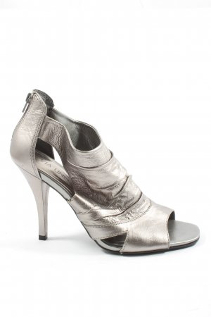Via uno High Heels silberfarben Elegant