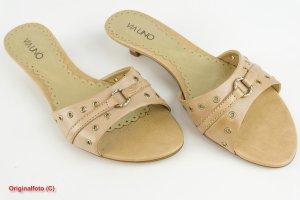 Via uno Sandalo con tacco beige chiaro