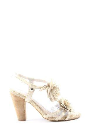 Via uno Sandalo alto con plateau bianco sporco stile casual