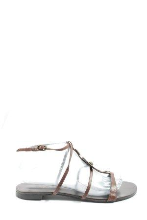 Via uno Romeinse sandalen bruin casual uitstraling