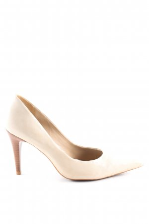 Via uno Spitz-Pumps creme Business-Look