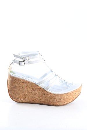 Via uno Wedges Sandaletten weiß Casual-Look