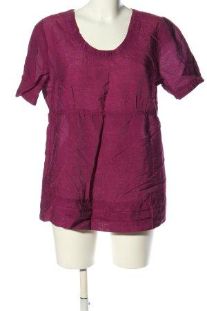 Viacortesa Schlupf-Bluse lila Casual-Look